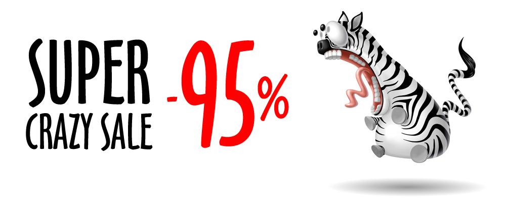 SUPER CRAZY SALE! - Wybierz swoją sukienkę  z 95% RABATEM!